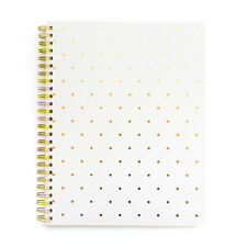 Sugar Paper SALE! White Gold Perfect Polka Dots Notebook (£18)