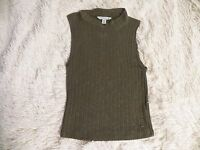 American Eagle Outfitters AE Ribbed Sweater Tank Knit Top XS Green