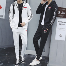 2020 Mens Full Tracksuits Hooded Top Jogger Jogging Bottoms Set White Black New