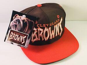 Cleveland Browns NFL Snapback Hat Cap NOS w/ Tag, 90's Vintage Bones Helmet Logo