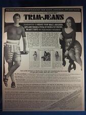 Vintage Magazine Ad Print Design Advertising Trim Jeans