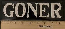 Goner Records Sticker/decal White&Black