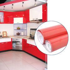 10M rot Möbelfolie Hochglanz Klebefolie Küchenfolie Schrankfolie Dekofolie