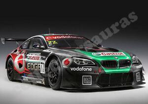 BMW M6 GT3 12 hour race car print A4 size HD print