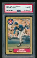 1987 Topps Traded #70T Greg Maddux Rookie PSA 10 GEM MINT Braves Free Ship