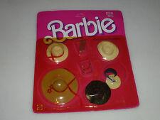 NEW ON CARD BARBIE FASHION FINISHING TOUCHES SET 2460 MATTEL 1984 HATS GLASSES >