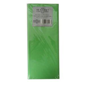 green tissue paper 10 sheets 50cm x 66cm