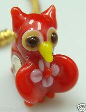 1pcs SILVER MURANO GLASS BEAD LAMPWORK Animal fit European Charm Bracelet E15