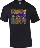 Funny Smiley Face Happy Happy Happy Inspirational T-Shirt