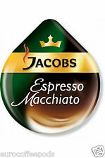 50 x Tassimo Jacobs Espresso Caffè Macchiato T-Disc (venduti alla rinfusa) (25 Servings)