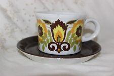 Royal Tudor Ware Barker Bros ltd Tea Cup And Saucer Flowers Floral
