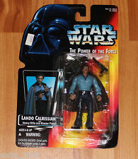 Vtg 1995 Star Wars The Power of The Force LANDO CALRISSIAN w Blaster FIGURE New