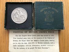 More details for 1951 festival of britain crown brilliant uncirculated 5/- coin, boxed + leaflet