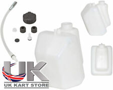 Petrol / Fuel Tank 3 Litre Push Through Black Caps UK KART STORE