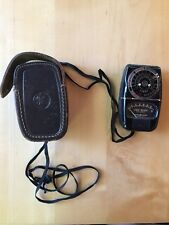 Vintage General Electric Exposure Meter Dw-58 With Leather Pouch