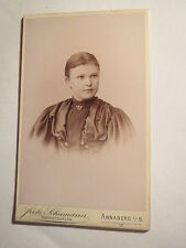 Anna montagna I. S. - Elisabeth Haubold o hanbold? come ragazza-Portrait/CDV