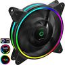 Game Max Razor 12cm Rainbow ARGB Fan RTB 3pin M&F Aura Header 3pin/4pin Power