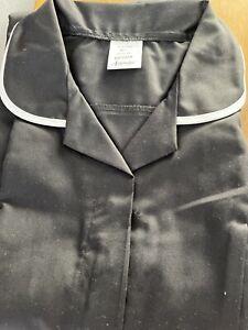 Alexandra Work Wear Black  Short Sleeve Tunic Dress NHS X2