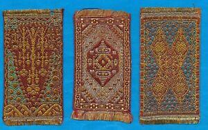 TURMAC TOBACCO WOVEN SILK MINIATURE PERSIAN CARPET DESIGNS (MEDIUM) SILKS 3