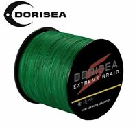 DORISEA Power Braid EXTREME Braided Fishing Line 100M 300M 500M 1000M Moss Green