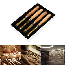 4x Wood Carving Tool Set Wood Geometric Chip Carving Detail Knife