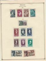 france semi postal stamps 1968-69  page mounted mint & used ref 17479