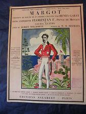 Partitur Margot Sacha Guitry Willemetz Salabert 1934 Music -blatt Groß Format