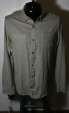 Men's HORNY TOAD Brown Organic Cotton Long Sleeve Shirt Size M