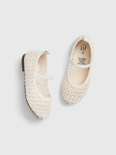 New Baby Gap Woven Eyelet Ballet Flats Shoes Size: 8 N10 - holiday, easter