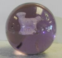#12247m Rare Vintage Purple Glass Sulphide Sulfide Marble 1.98 Inches