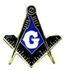 Mason Masonic Freemasonry Lodge Award Tie Tac Hat Pin Gift Box Square Compass