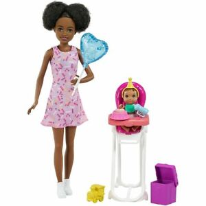 Barbie Skipper w/ Colour-Change Baby Doll, High Chair & Party-Themed Accessories