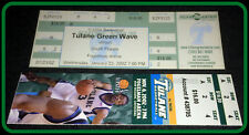 LOT OF 2 DIFFERENT 2002-03 TULANE GREEN WAVE FULL BASKETBALL TICKETS NOV AND JAN