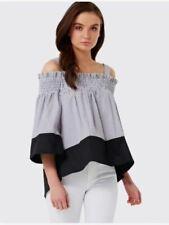 Forever New Size 6 Cold Shoulder Stripe Top
