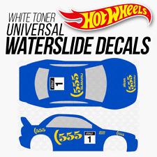 Hot Wheels SUBARU 555 RALLY Custom White Toner Universal WaterSlide Decal 1/64