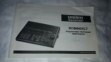Uniden Bearcat BC860XLT OPERATING GUIDE....English