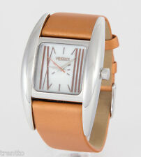 RELOJ VENDOUX MUJER ACERO LS14310 WOMENS NEW STEEL LEATHER ROMAN WATCH UHR 3 ATM