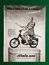 PY70 Pubblicità Advertising Clipping 24x18 cm (1984) ATALA UNO MOTO SCOOTER