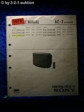 Sony Service Manual KV S3411A /B /D /K (#1679)
