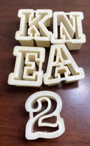 Wilton Cookie Cutters Number 2, Letters K, N, E, And A