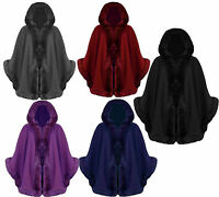 FAUX FUR HOODED LADIES  CAPE PONCHO IN PLUS SIZE R29