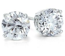 .50 ct. White Sapphire Round Stud Earrings ~ Solid Sterling Silver ~ Gift box