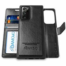 AMOVO Galaxy Note 20 Ultra Wallet Case 2 in 1 Detachable Vegan Leather Case f...