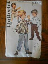 VINTAGE 1960's BUTTERICK 2122 BOYS SEPERATES