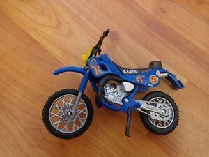 1/18 WELLY CLASSIC KAWASAKI KX250 DIRTBIKE BLUE MOTORCYCLE BIKE MOTORBIKE