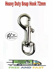 HEAVY DUTY ROUND SWIVEL TRIGGER SNAP HOOKS 72MM LEATHER HORSE DOG LEAD VARIOUS