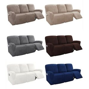 3 Seater Elastic Recliner Chair Cover Armchair Sofa Couch Covers Universal Solid
