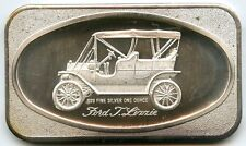 Ford T Lizzie Car .999 Silver Art Medal - Vintage Ingot bar 1 oz Troy - AC304