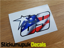 USA Nicky Hayden Sticker Superbike MotoGP Moto GP 69 Car / Van size : 180mm wide