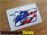 USA Nicky Hayden Sticker Superbike MotoGP Moto GP 69 Car / Van size : 180mm wide